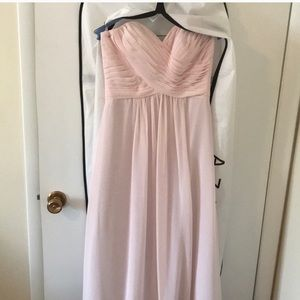 Azazie Blushing Pink Bridesmaid dress size 6.